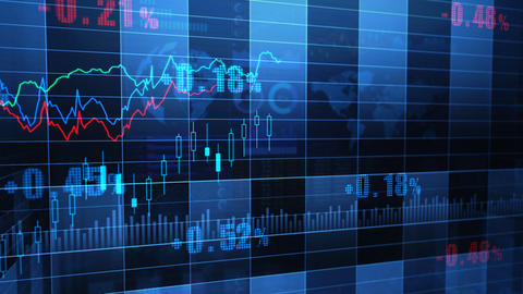 Stock Market trends 065 Stock Video Footage
