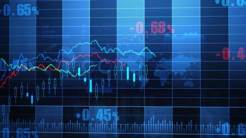 Stock Market trends 065 Stock Video Footage
