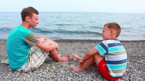 Boy on Beach 4 Stock Video Footage