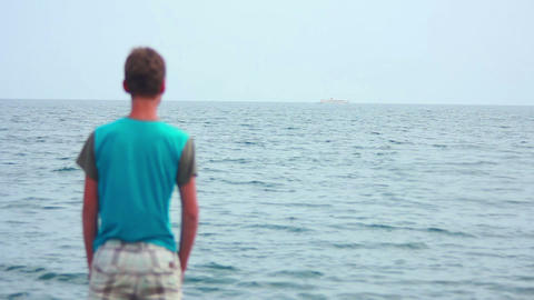 Boy on Beach 12 Stock Video Footage