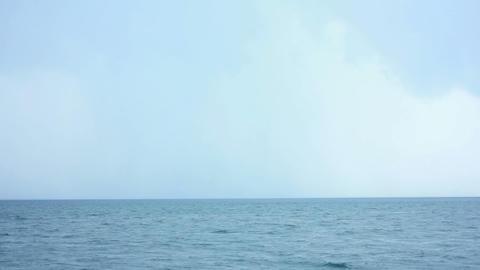Rain Under Sea 2 Stock Video Footage