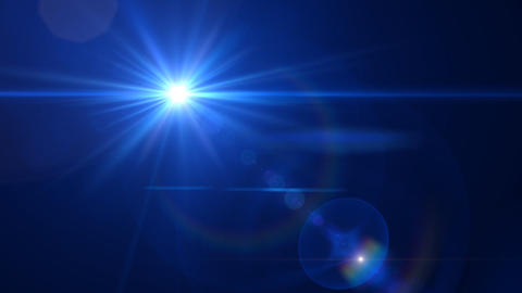 Lens Flares Blue slope Stock Video Footage