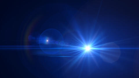 Lens Flares Blue slope Animation