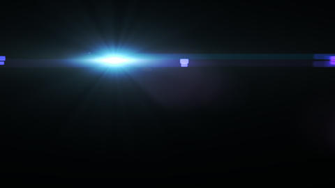 Lens Flares crossing blue glow slope Stock Video Footage