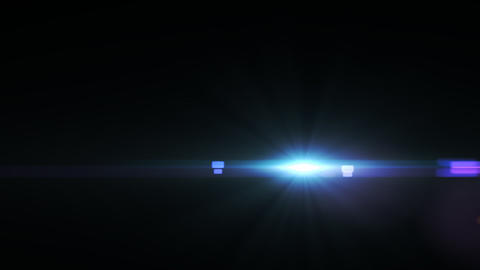 Lens Flares crossing blue glow slope Animation
