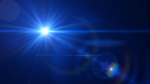 Lens Flares crossing Blue vertical Animation