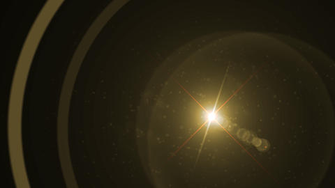 Lens Flares crossing gold slope Animation
