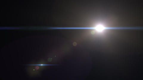 Lens Flares crossing Light Animation