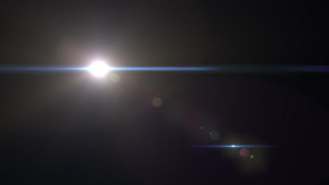 Lens Flares crossing Light vertical Animation
