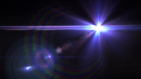 Lens Flares crossing Purple Animation