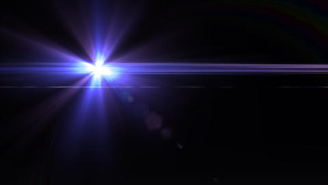 Lens Flares crossing Purple vertical Animation