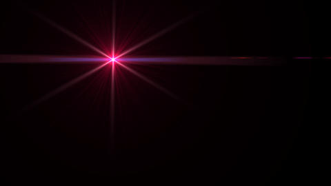 Lens Flares crossing red slope Animation