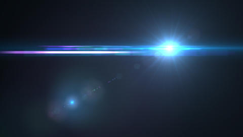 Lens Flares crossing Sea Blue Animation