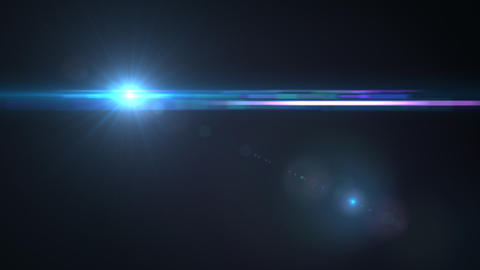 Lens Flares crossing Sea Blue Stock Video Footage