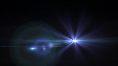 Lens Flares purple star slope Animation