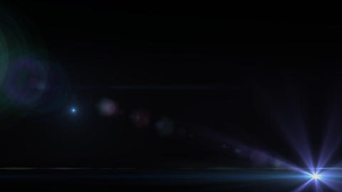 Lens Flares purple star slope Stock Video Footage