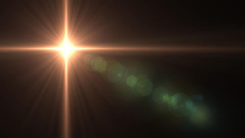 Lens Flares star glow Animation