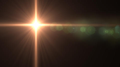 Lens Flares star glow vertical Animation