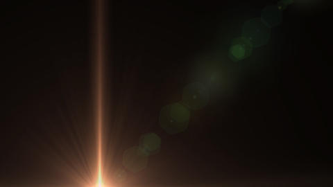 Lens Flares star glow vertical Stock Video Footage