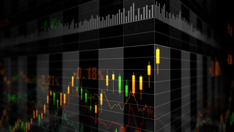 Stock Market trends 066 Stock Video Footage