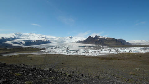 A glacier in the interior of Iceland Footage
