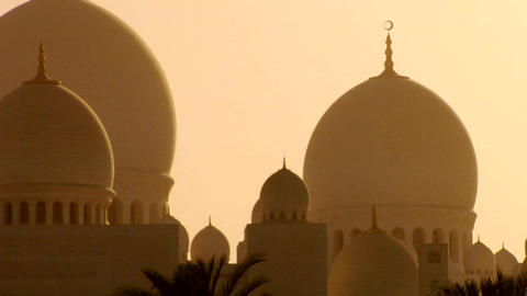 The domes of the beautiful Sheikh Zayed Mosque in  Footage