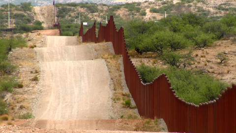 The U.S. Mexico border fence becomes a focal point Footage
