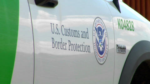 A close up of the U.S. Customs and Border Protecti Stock Video Footage