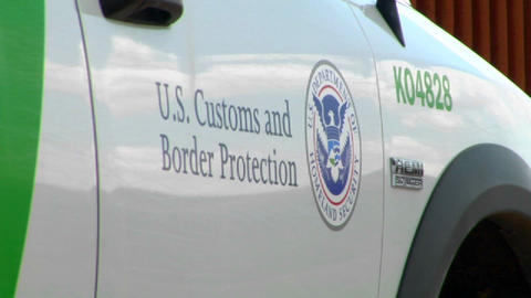 A close up of the U.S. Customs and Border Protecti Footage