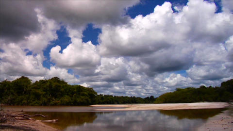 Beautiful clouds over the Amazon river basin in Br Footage