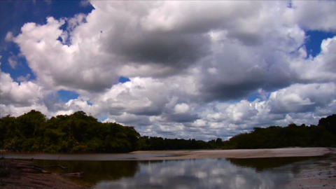 Beautiful clouds over the Amazon river basin in Br Stock Video Footage