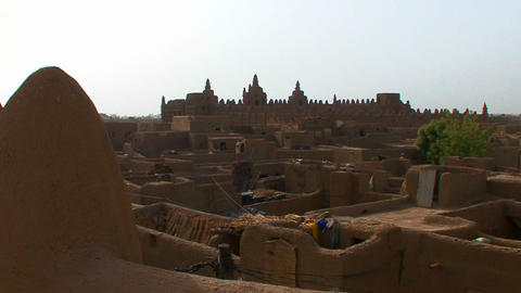 The famous mosque at Djenne, Mali Footage
