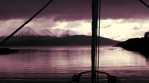 Point of view from a sailboat sailing on a beautif Stock Video Footage