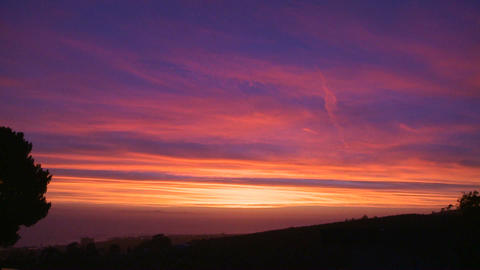 A beautiful multi colored sunset along the Califor Footage