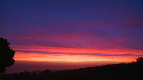 A beautiful multi colored sunset along the Califor Stock Video Footage