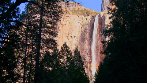 A beautiful waterfall in Yosemite National park ca Stock Video Footage