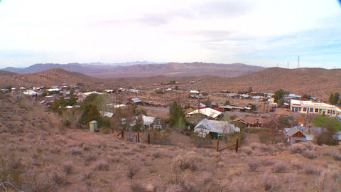 Overview of a Nevada desert town Footage