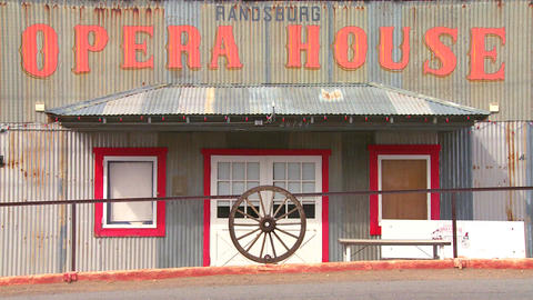The Opera House in the old Western mining town of Stock Video Footage
