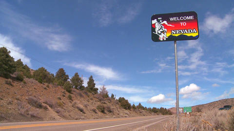 A sign welcomes visitors to Nevada Live Action