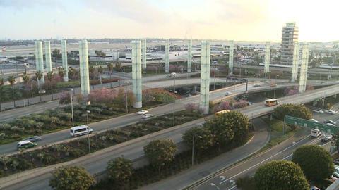 Establishing shot of Los Angeles International air Stock Video Footage