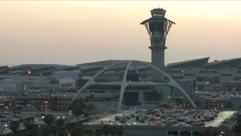 Establishing shot of Los Angeles International air Footage