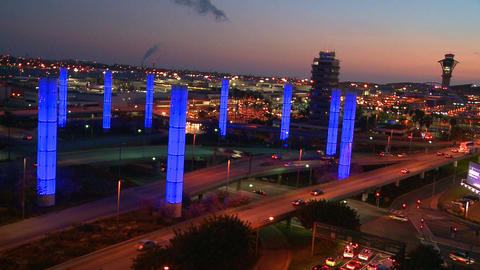 An overview of Los Angeles International airport a Stock Video Footage