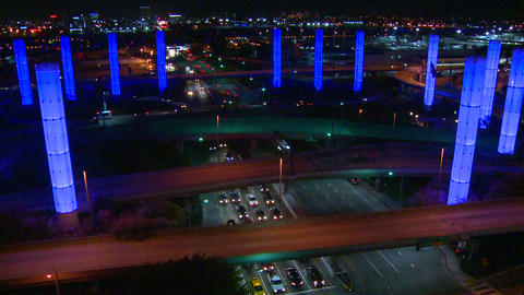 Beautiful time lapse of freeways and roads around Stock Video Footage