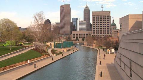 Establishing shot of Indianapolis, Indiana Footage