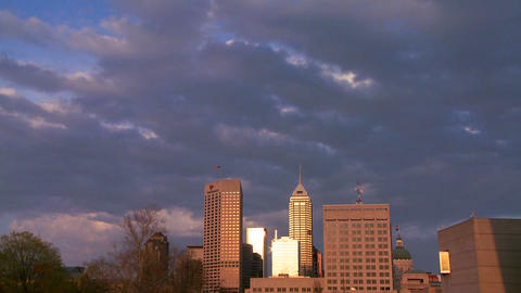 Time lapse shot of a storm arriving in a city at d Stock Video Footage