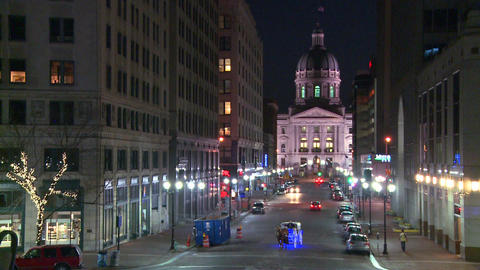 The Indiana state capital building in Indianapolis Stock Video Footage