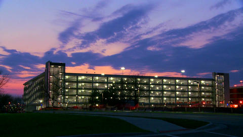 A modern office building in beautiful sunset light Stock Video Footage