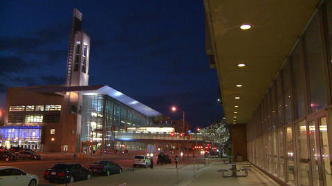 A modern office building or performing arts center Stock Video Footage