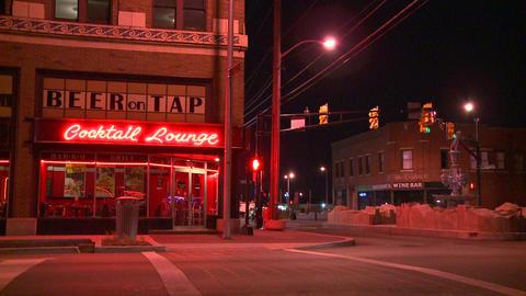 A neighborhood cocktail lounge at night Footage