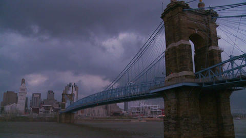 Storm clouds over Cincinnati Ohio Stock Video Footage